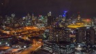 Melbourne at night from up high on the Melbourne Star
