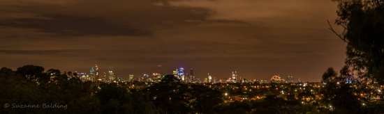 The city looked beautiful tonight from Park Crescent in Essendon.