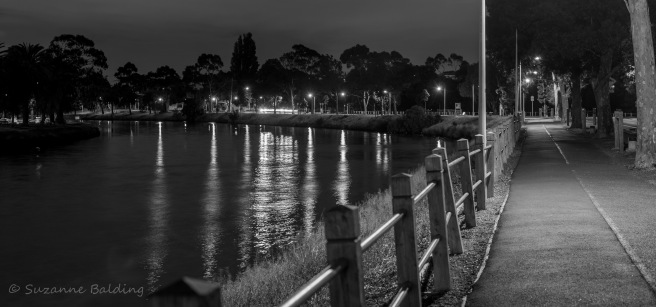 Maribyrnong River by night.